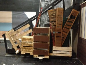 Les Mis Construction of the Barricade